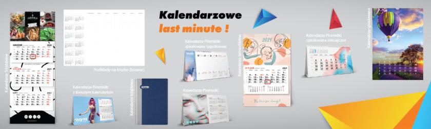 Kalendarze książkowe, Kalendarze ścienne, Kalendarze biurkowe, Kalendarze trójdzielne